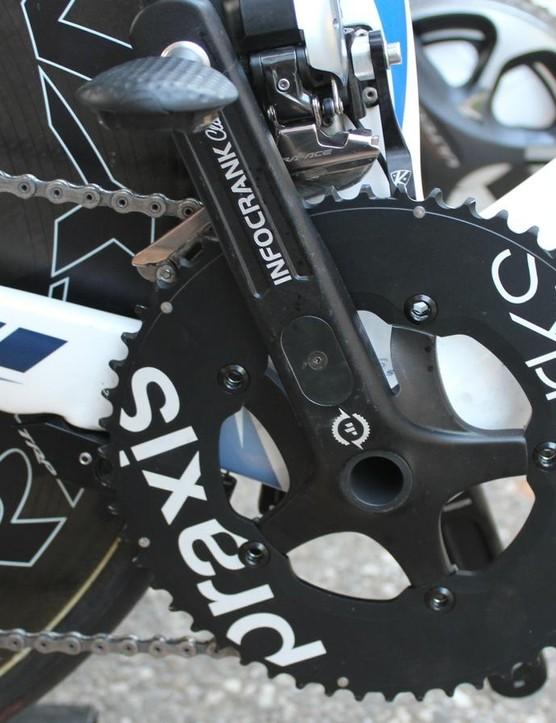 Stephens' Infocrank power meter with Praxis Works TT rings