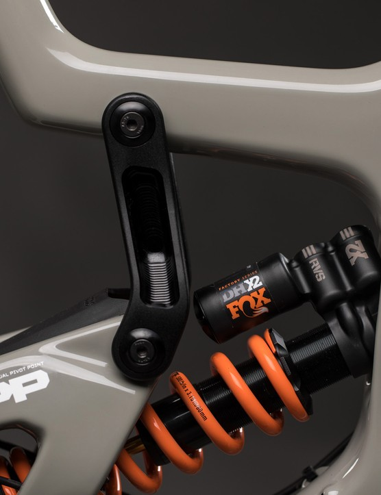 The carbon frame and machined alloy rocker links are things of beauty