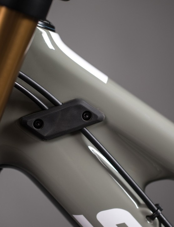 Integrated fork bumpers should keep your stanchions from damaging your frame