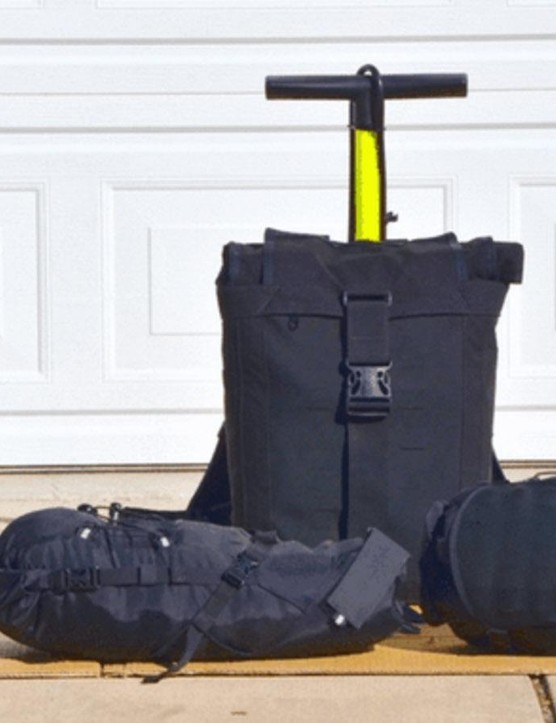 Vagabond Bicycle bags are a modular bike cargo system that requires no mounts or racks