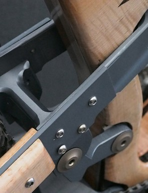 The 'Vari-angle' enduro bike's rear suspension is based on Canadian firm Devinci's 160mm Spartan