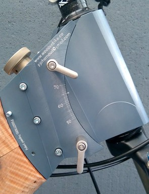 Careful pivot placement means that the bike's stack remains similar throughout the full 15 degrees of useable adjustment