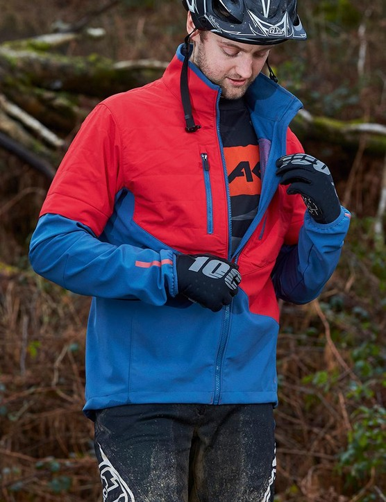 The jacket is ideal for changeable conditions but could use some more venting