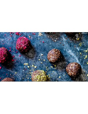 Try experimenting with different coatings on these vegan energy balls
