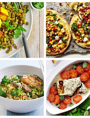 A selection of tasty meat-free meals for post-ride refuelling