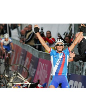 Velits' moment of victory