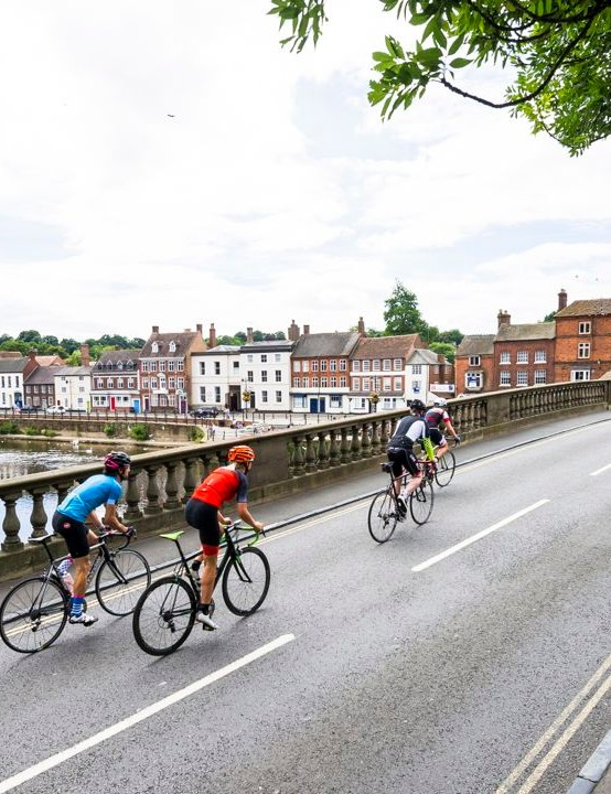 The route is much tougher than RideLondon, according to Martin Johnson CBE