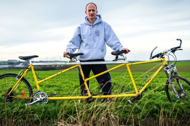 Pascal Magaren built a triple tandem for him and his brothers, and was stunned by the reaction they got from strangers everywhere