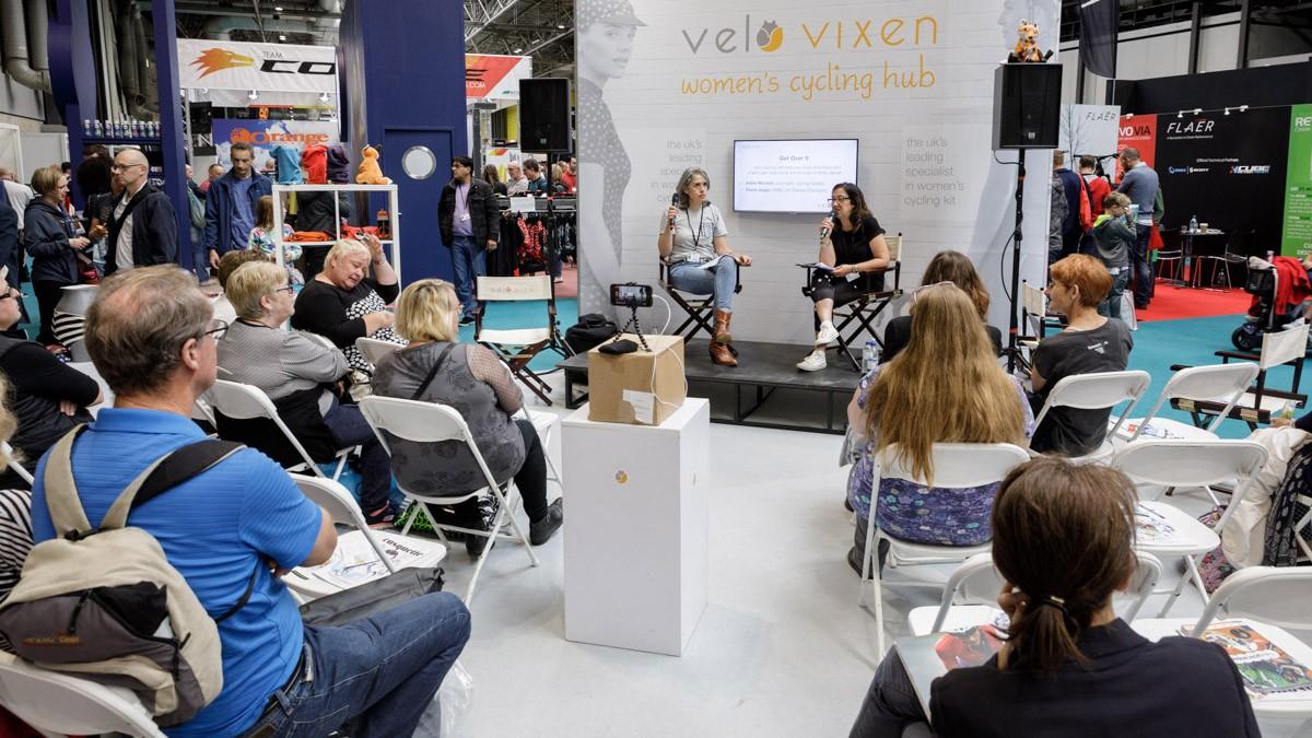 The VeloVixen hub provides the platform for inspiring female speakers