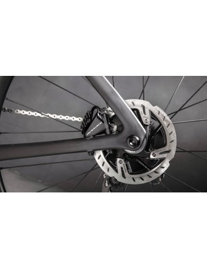 The S-Works bikes are disc-only and Shimano-only