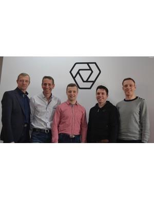 The key Verge team, from left: Janusz Smolinski, president of Verge; Mike Magur, founder; Kamil Smolinski, marketing manager; John Dempsey, UK & Ireland distributor; Karol Ligeza, production manager