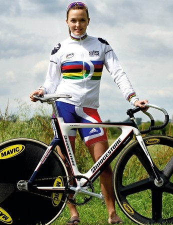 British track star Victoria Pendleton proves that you don't have to be muscly to be Olympic-standard quick on a bike