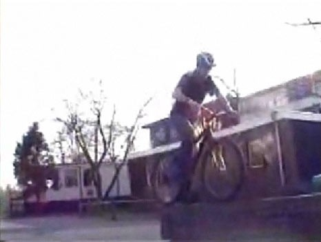 Trials rider hits the deck