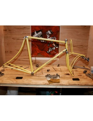 Villin hand-hammered lugged frameset.