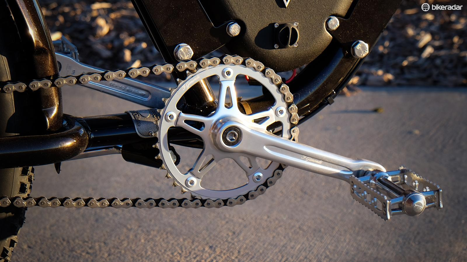 The singlespeed drivetrain is a vestige of its pedal-powered past