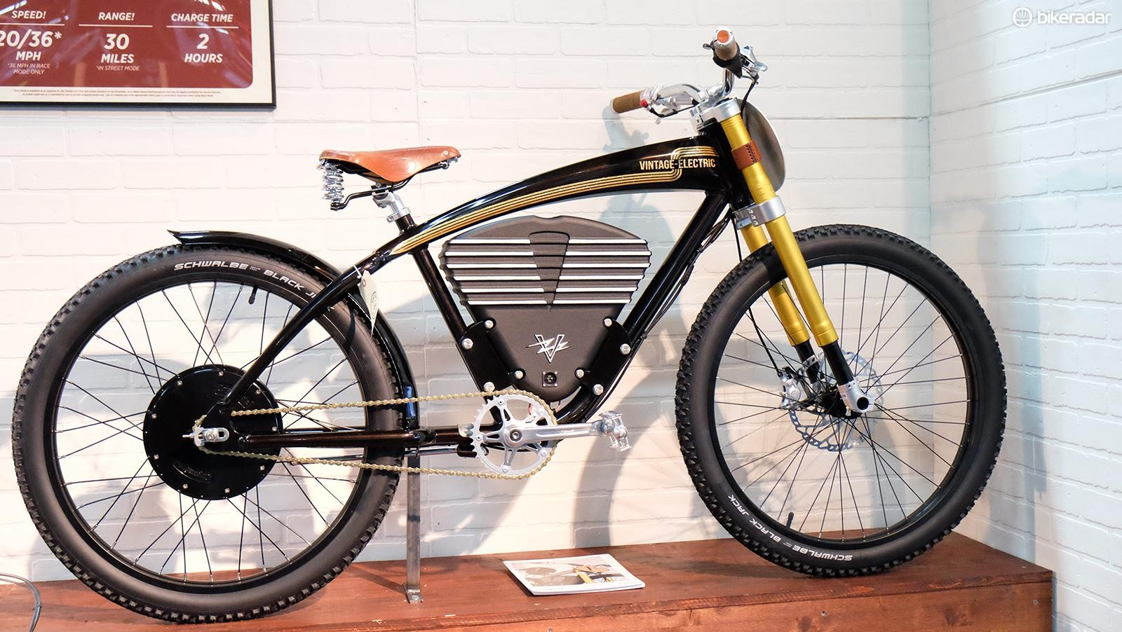 There's no shortage of moto-styling on the Vintage Electric Scrambler
