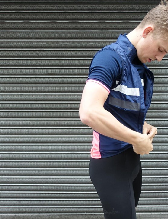 The offset zip on the gilet prevents any layering issues