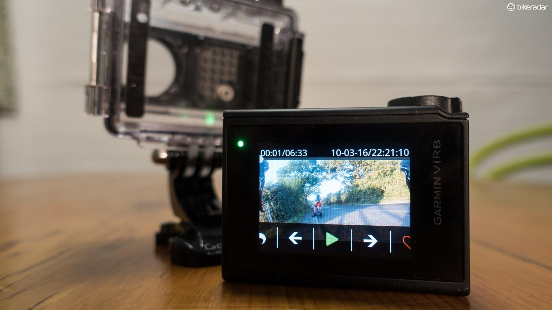 The 1.75-inch touchscreen is great for playing back video