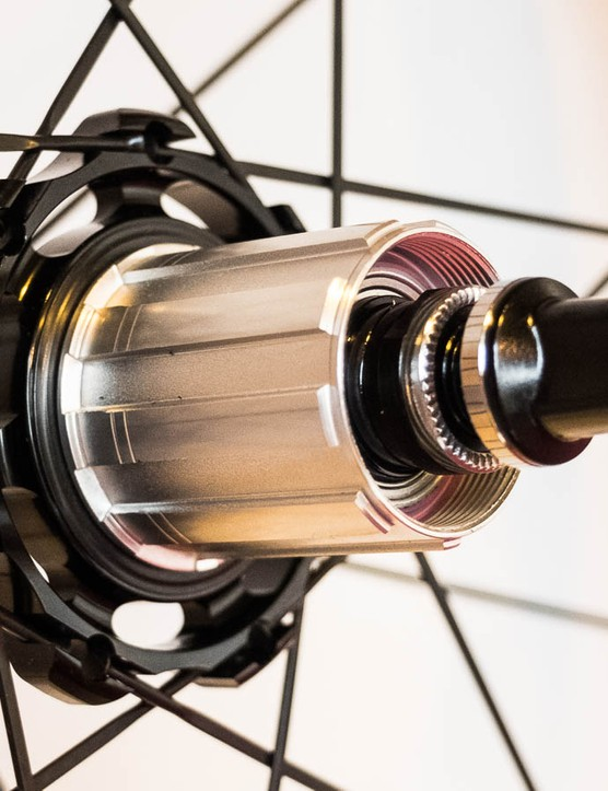 The rear hubs have seen updates with them now using angular contact bearings and a larger flange on the drive side
