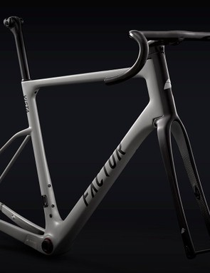 The bike is available in the standard Stone Grey option