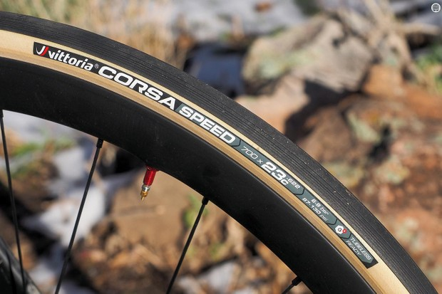 Vittoria says its new Corsa Speed tubeless open tubular is the fastest tire ever tested at Wheel Energy in Nastola, Finland