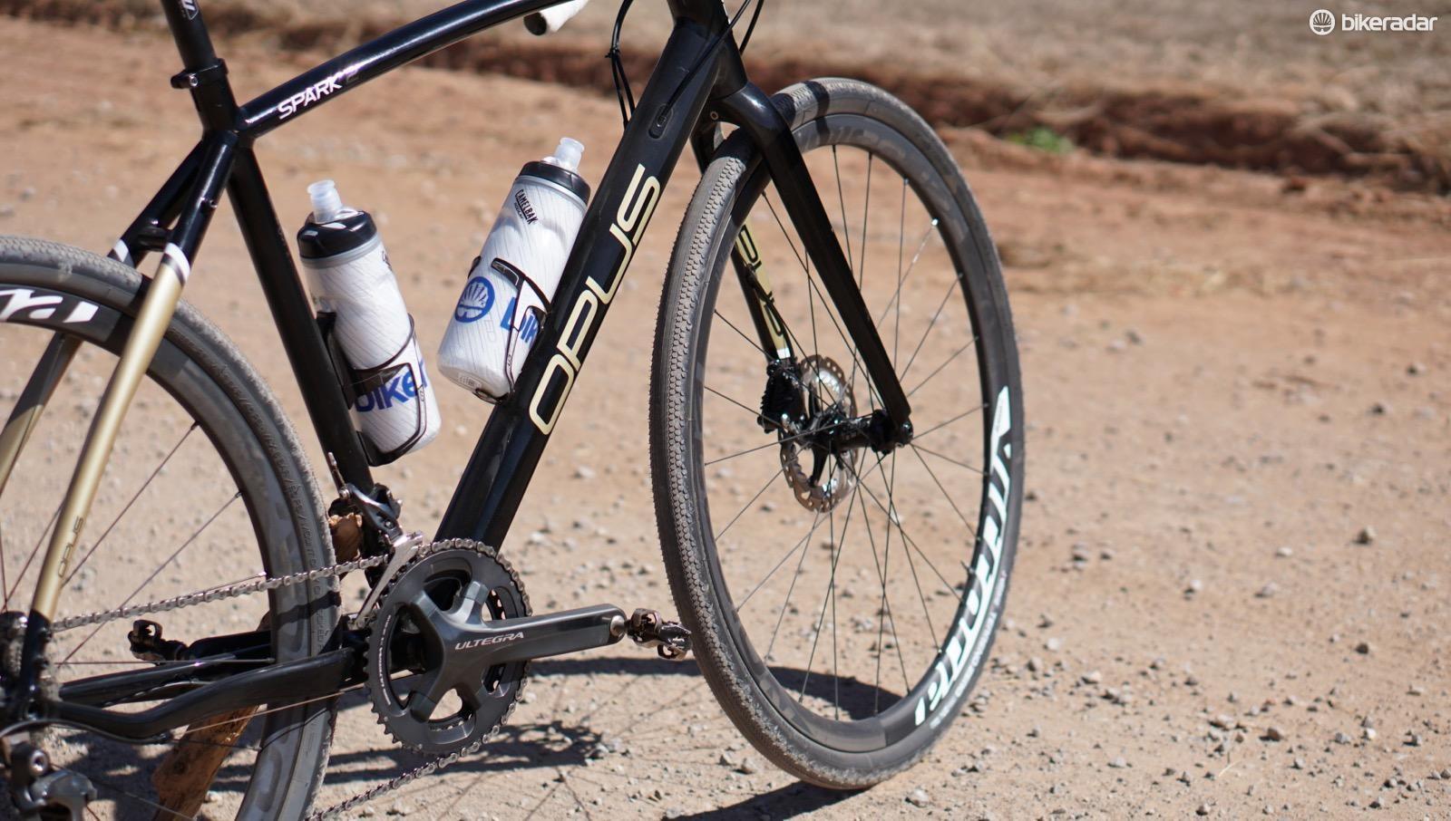The Terreno Zero tires roll fast in dry gravel conditions