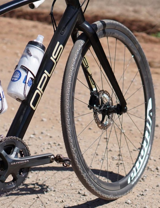 The Terreno Zero tires roll fast in dry gravel conditions
