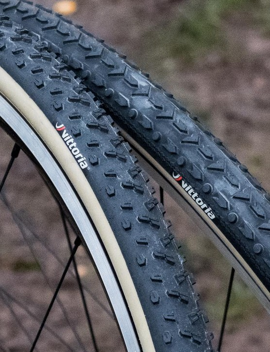 Vittoria's new cyclocross tubulars come in three tread patterns: mixed, muddy and dry