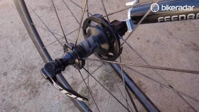 The SwitchIt hubs on Vittoria's Qurano wheels make it easy to swap freehub bodies to quickly change wheels for wind conditions, the idea being that you purchase multiple pairs of Vittoria wheels