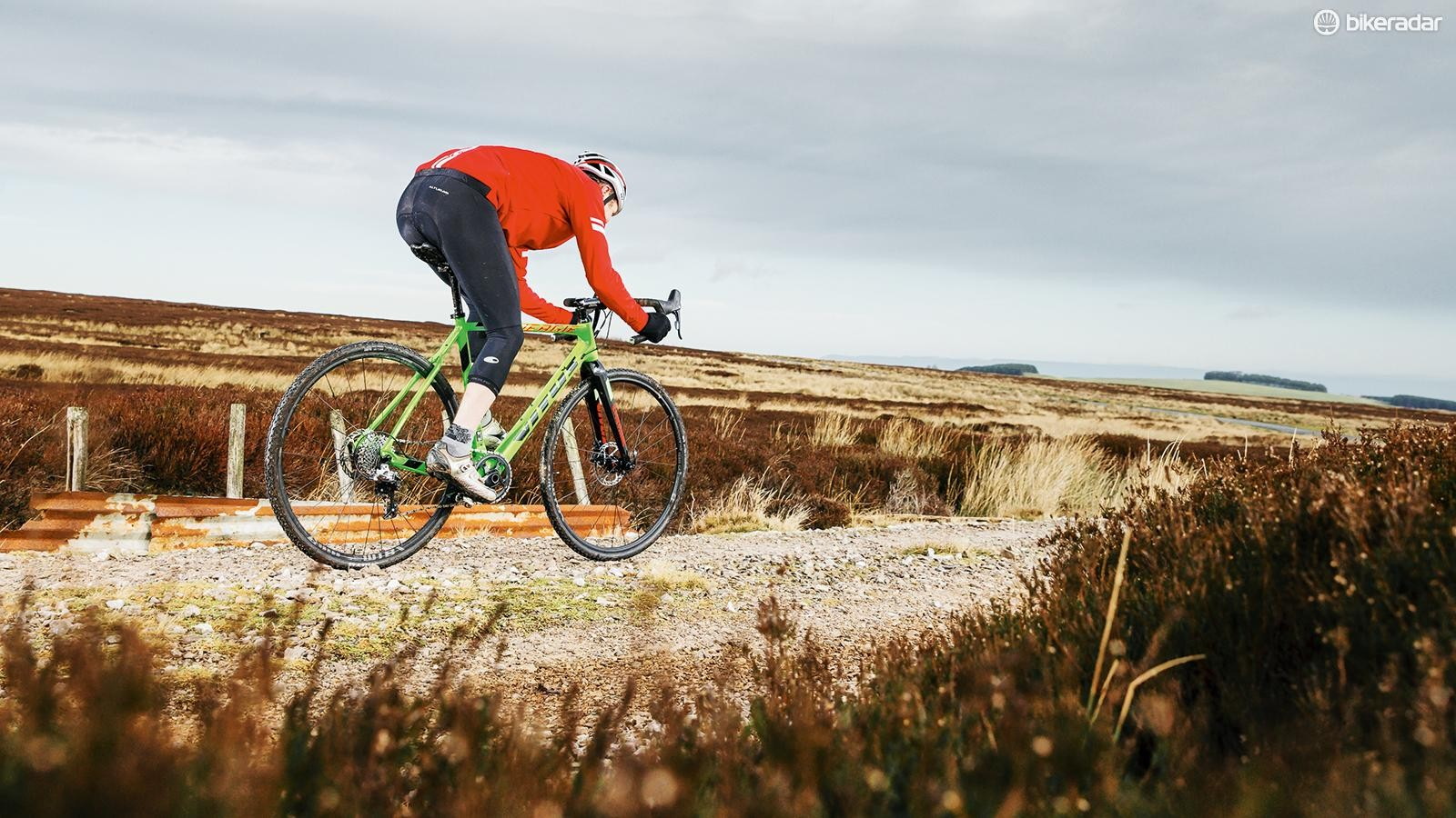 The Energie's bang-up-to-date carbon frame and full-carbon fork represent impressive value