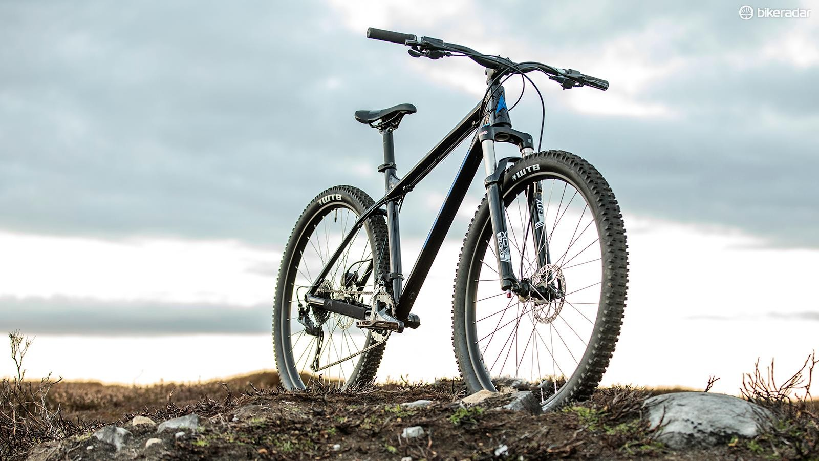 The tapered head tube makes future fork upgrades easy