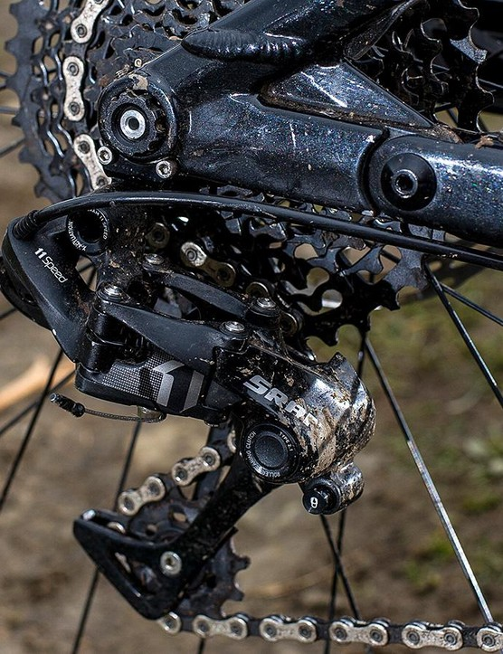 SRAM X1 takes good care of the shifting