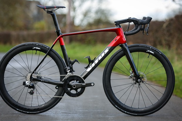 Vitus Pro Cycling Team's Vitus ZX1 Team Aero Disc race bike for the 2019 season