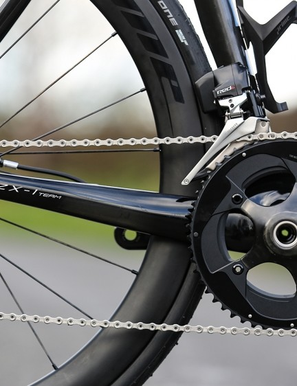 The bike is paired with a SRAM Red eTap drivetrain
