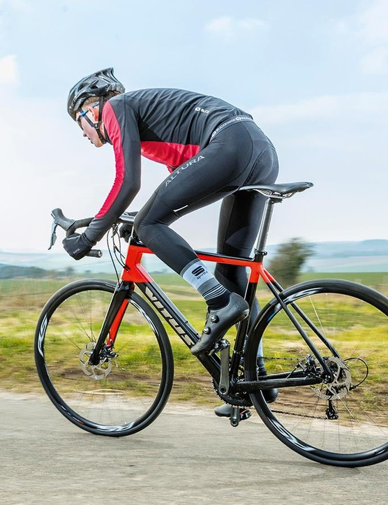 There's more than enough frame stiffness to ensure all your wattage arrives at the back wheel