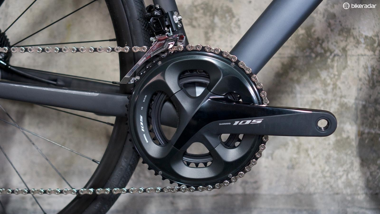 Our Bike of the Year Zenium CRW test bike comes with Shimano 105 drivetrain