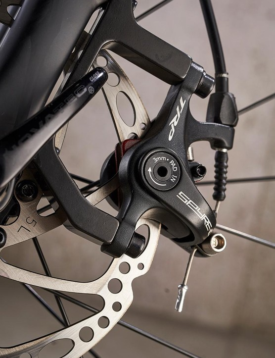 Dual-piston TRP Spyre brakes don't offer same power as hydraulic options
