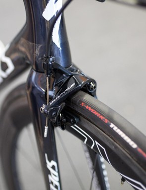 The new Tarmac uses direct mount brakes