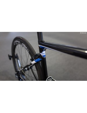 Quick-Step's bikes are minimally branded