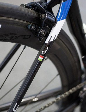 One of the Quick-Step mechanics jokingly told us that his favourite tools are name stickers