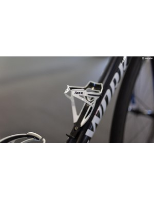 Tacx Deva bottle cages will keep the Italian rider's drinks safe