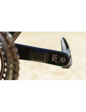 The bike is fitted with a Shimano power meter