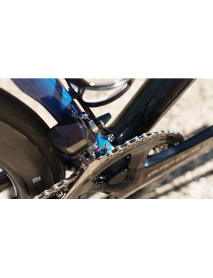 Both bikes are fitted with a K-Edge chain catcher