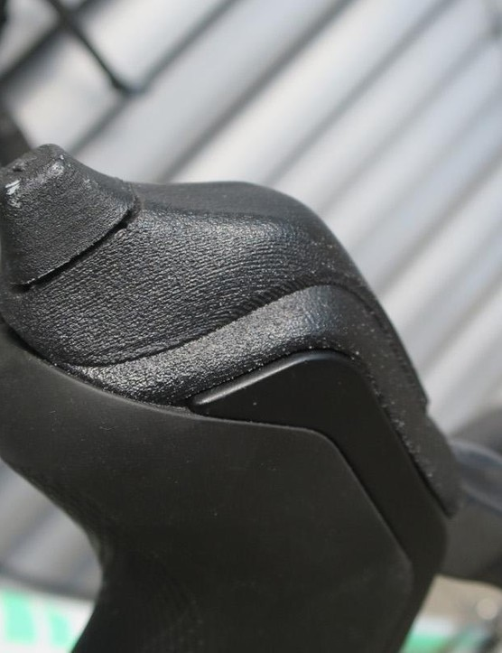The Di2 shifters feature these custom hoods with a joystick on top of the right-hand shifter