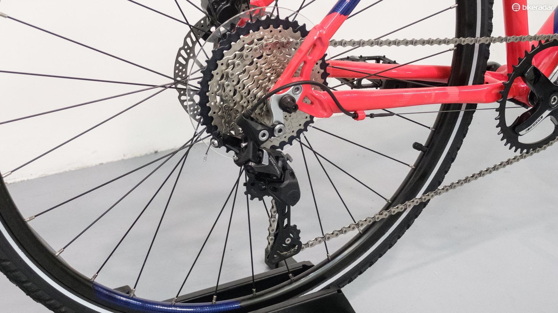 The bike is built around a proper 1x drivetrain