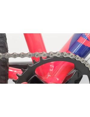 The bike has a proper narrow-wide chainring