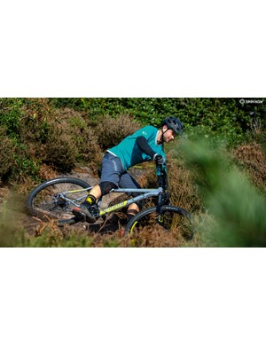 The frame's long reach and wheelbase improve stability and keep trouble at arm's length and less likely to trip you up
