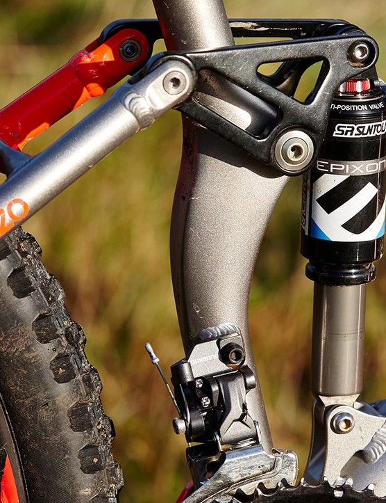 The Suntour shock need careful tweaking but has proven super-reliable in long-term testing