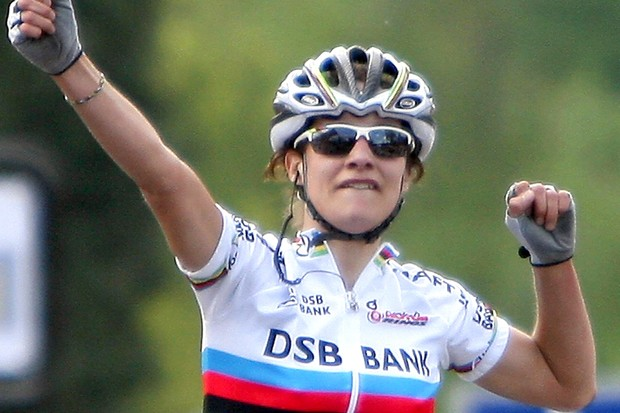 Marianne Vos, pictured winning the Fleche Wallone in April