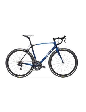 The Van Rysel Ultra 920 CF Ultegra comes in a very fetching blue...